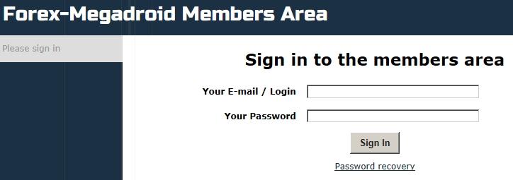 Forex megadroid members login